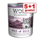 5 + 1 zdarma! 6 x 800 g Wolf of Wilderness