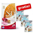 12 kg  Farmina + 3 x Briantos Ice Cream, 4 smaki gratis!
