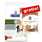 12 kg Hill's Prescription Diet Hundefôr + 2 x 220 g hundegodbiter gratis