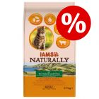 20% sleva! 2,7 kg IAMS Naturally Cat / 12 x 85 g IAMS Naturally mix