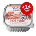Смешанная экономупаковка Wolf of Wilderness Adult 12 х 300 г