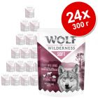 Икономична опаковка Wolf of Wilderness Adult Soft & Strong 24 x 300 г