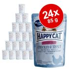 Ekonomipack: Happy Cat Pouch All Meat 24 x 85 g