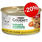 20% gratis! 12 x 85 g Gourmet Nature's Creations