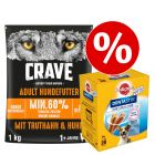 1 kg Crave hundefoder + Pedigree Dentastix til særpris!