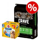 11,5 kg Crave torrfoder + Dentastix Daily Oral Care Large till sparpris!