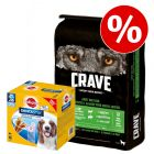 11,5 kg Crave torrfoder + Dentastix Daily Oral Care Medium till sparpris!