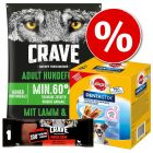 1 kg Crave tørfoder + 75 g Crave Snacks + Dentastix til SÆRPRIS!