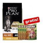 10 kg Croquettes PURINA PRO PLAN Nutriprotein + friandises AdVENTuROS Nuggets 5 x 90 g offertes !