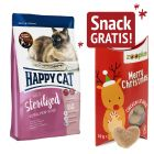 4 kg Happy Cat + 10 g Xmas Snack liofilizzato Pollo gratis!