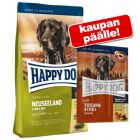 12,5-15 kg Happy Dog + Tasty Toscana Sticks kaupan päälle!