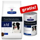 10 kg Hill's Prescription Diet z/d Food Sensitivities + umido gratis!