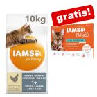 10 kg IAMS for Vitality + 12 x 85 g IAMS Delights in Salsa gratis!
