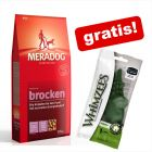 12,5 kg Meradog + WHIMZEES Alligator snacks gratis!