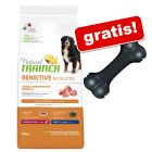 12 kg Natural Trainer Sensitive No Gluten + Osso KONG Extreme gratis!