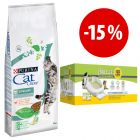 15 kg Purina Cat Chow + Kit Purina Tidy Cats Breeze a prezzo speciale!