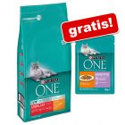 6 kg Purina ONE + 12 x 85 g Sensitive con Pollo e Carote gratis!