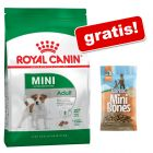 8 kg Royal Canin Mini Adult + Barkoo Mini Bones półwilgotne, 200 g gratis!