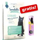 10 kg Sanabelle + Cosma snackies XXL pui, 30 g, gratis!