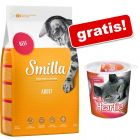10 kg Smilla + 125 g Smilla Hearties gratis!
