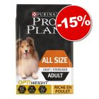15% korting! 7 kg Pro Plan droogvoer