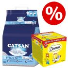 18 l Catsan kissanhiekka + 12 x 60 g Dreamies Selection Box -herkut erikoishintaan!