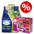 20 l Catsan Natural pesek + 48 x 100 g Whiskas Junior po posebni ceni!