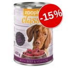 15% reducere! zooplus Classic 12 x 400 g