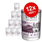 Экономупаковка Wolf of Wilderness 12 x 400 г