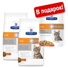 2 x 5 кг Hill's Prescription Diet Kidney Care + 12 x 85 г в подарок!