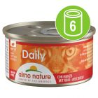 6 x 85 g Almo Nature Daily Menu prøvepakke