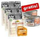 3 x 15 g Almo Nature Holistic Snack + 2 x 85 g Almo Nature Holistic Maintenance offerts !