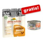 3 x 15 g Almo Nature Holistic Snack + 2 x 85 g umido Maintenance gratis!
