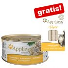 24 x 70 g Applaws kattmat i buljong/gelé  + 8 x 7 g Applaws Puree på köpet!