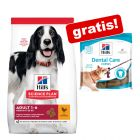3 x 170 g Dental Care Snackuri gratis! 14 kg Hill's Science Plan