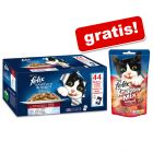 44 x 100 g Felix Le Ghiottonerie in gelatina + 60 g Felix Party Mix gratis!