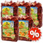 5 x 125 g JR Farm Chips di carote