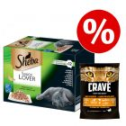 48 x 85 g Sheba + 750 g Crave Turkey & Chicken torrfoder till  kanonpris!