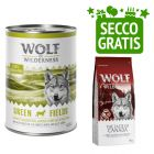24 x 400 g umido Wolf of Wilderness + 1 kg secco gratis!