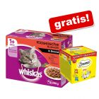 96 x 100 g Whiskas + Dreamies Mixbox gratis!