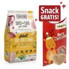 2 x 1,5 kg MAC's Superfood Cats Adult + 10 g Xmas Snack liofilizzato gratis!