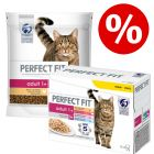 4 x 1,4 kg Perfect Fit + 48 x 85 g Perfect Fit Mix Nassfutter zum Sonderpreis!