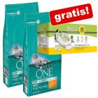 2 x 6 kg Purina One + Kit Tidy Cats Breeze offert !