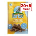 4 x 120g (28 Chews) Barkoo Dental Snacks - 20 + 8 Free!*