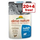 24 x 70g Almo Nature Holistic Wet Cat Food Pouches - 20 + 4 Free!*