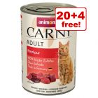 24 x 400g Animonda Carny Wet Cat Food - 20 + 4 Free!*