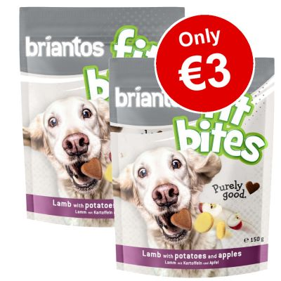 2 x 150g Briantos FitBites Pouches Dog Treats - Only €3!*