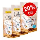 3 x 65g Catessy Crunchy Cat Snacks - 20% Off!*