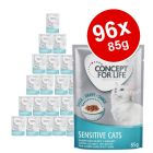 96 x 85g Concept for Life Wet Cat Food - Mega Pack!*