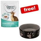 24 x 85g Concept for Life Wet Cat Food + 300ml Trixie Ceramic Bowl Free!*